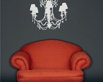 Chandelier Wall Decal Fancy - Vinyl Wall Stickers Art Graphics