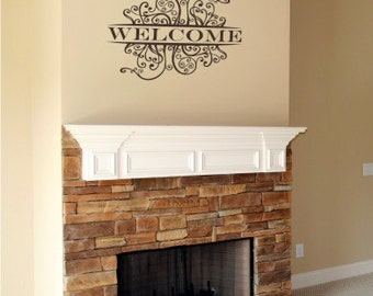 Welcome Wall Decal Sign - Vinyl Wall Stickers Art Graphics Words Lettering