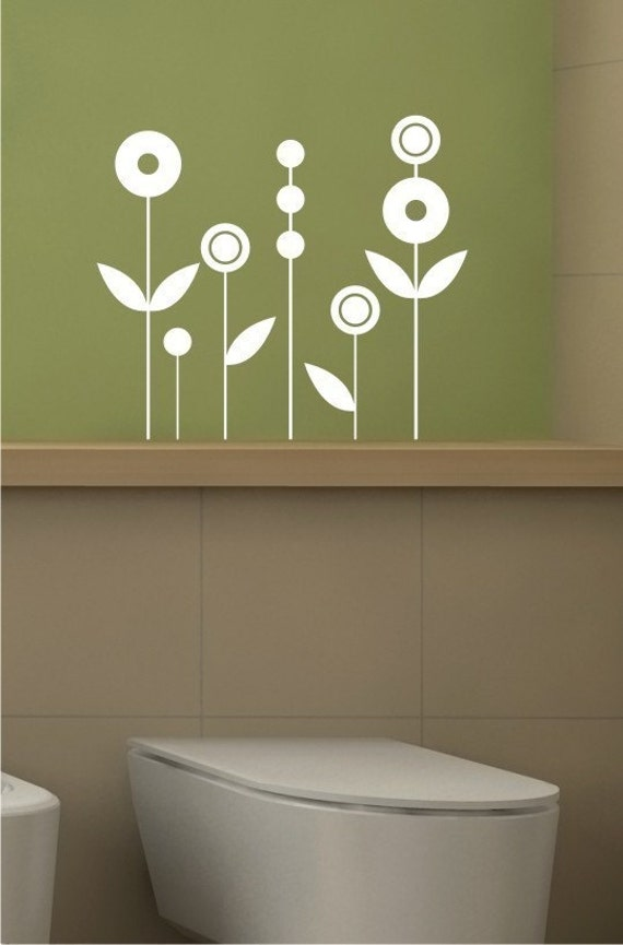 Flowers Wall Decals Simple Circles - Vinyl Wall Stickers Art Graphics