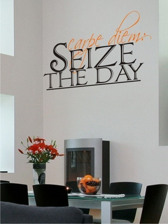 Carpe Diem Seize the Day Wall Decal Quote - Vinyl Wall Stickers