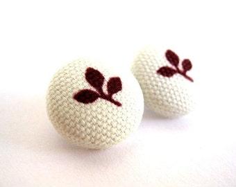 Leaf earrings - Brown leaf stud earrings - Leaf studs - Leaf posts- Brown leaf post earrings sf435