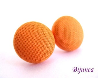 Peach earrings - Orange stud earrings - Peach posts - Orange studs - Peach post earrings sf527