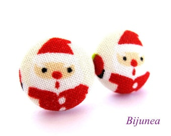 Santa Claus stud earrings sf676