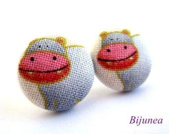 Hippo earrings - Hippo stud earrings - Hippo posts - Hippo post earrings - Hippo studs sf810
