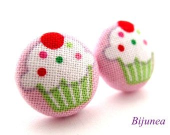Cupcake earrings - Cupcake stud earrings - Cupcake studs - Cupcake posts - Cupcake post earrings sf834