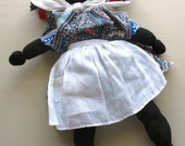 vintage folk art handmade doll