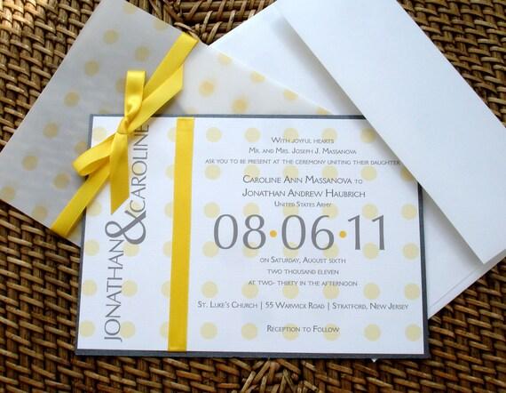Yellow Wedding Invitation, Unique wedding invitations, fun wedding invitation, Bat mitzvah invitation, sweet 16 invite, quinceanera invite