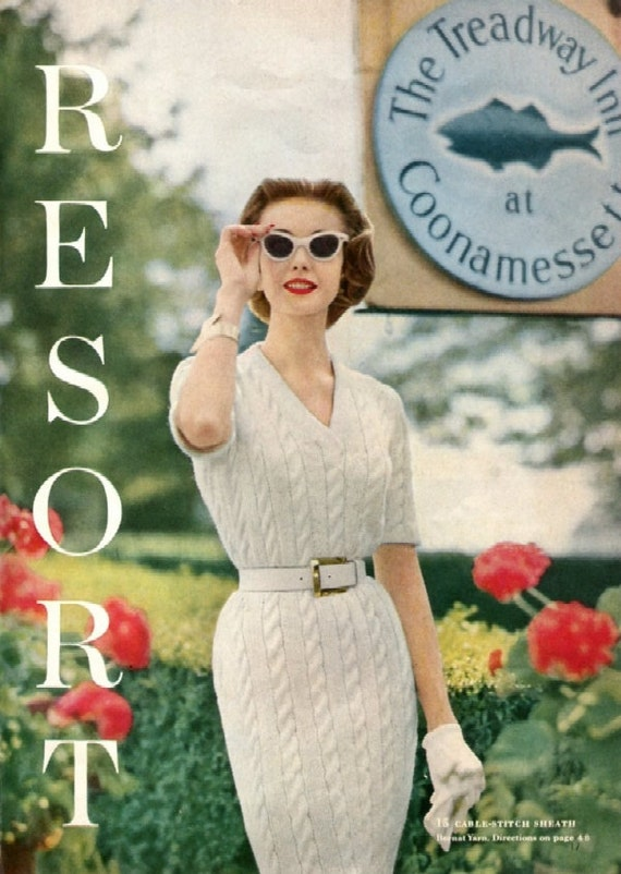 Vogue Knitting Pattern Abbreviations : 1957 Vogue Knitting Book PDF10 Resort Wear Patterns ONLY