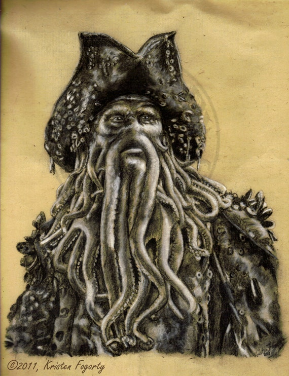 Pirates of the Caribbean Character Series - Davy Jones - 8x10 Gloss Print. Limited Edition Number 1 of 25