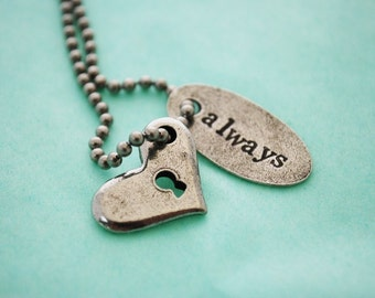 Always and Key to My Heart Necklace