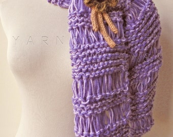 The WinterBerry Scarf and Brooch  in Plum Purple  / ON SALE NOW
