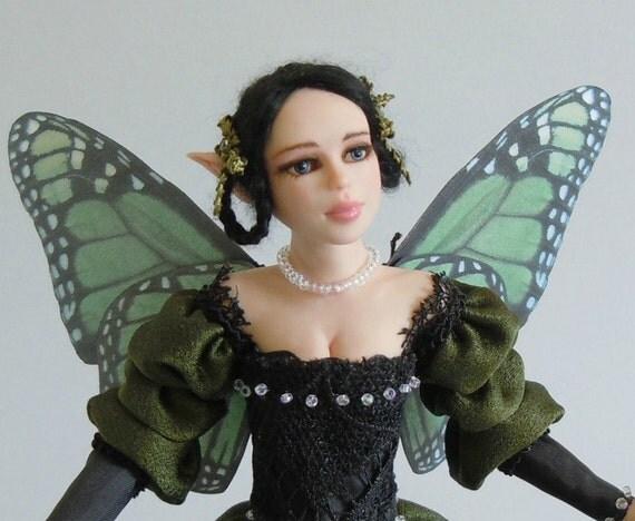 Ooak Art DOLL - Leila - sculpture fantasy fairy in polymer clay