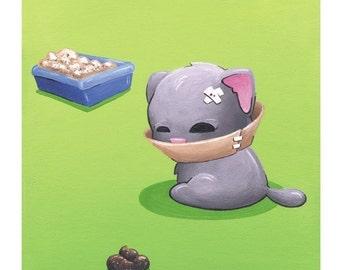 Bad Kitty 1 - Humorous Cat 8x10 Print by Geri Shields