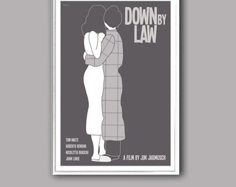 Movie poster Down by Law retro print in various sizes