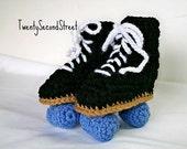 Baby Roller Skate Booties Crochet Baby Booties CUSTOM ORDER