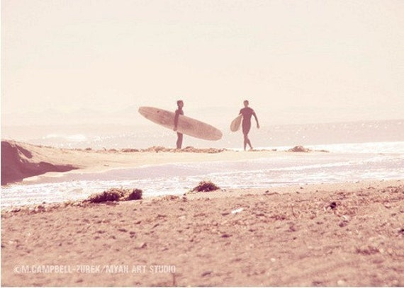 photography, surfer, Board Meeting, San Onofre beach photograph, California seaside pink mauve lilac early morning, latte color, babys room
