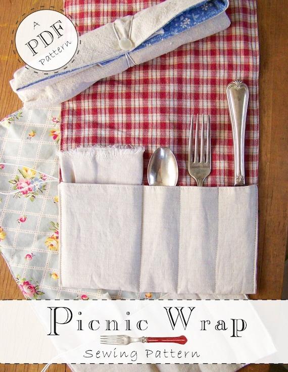 Picnic Wrap Pattern - Digital File - Printable PDF