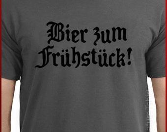 Beer For Breakfast Mens T-shirt Oktoberfest funny German shirt shirt Tee tshirt Womens Unisex Birthday S-2XL more colors BLACK DESIGN