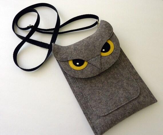 Owl Fire tablet case for Fire, HD 6, HD 8, HD 10 - Felt ereader case