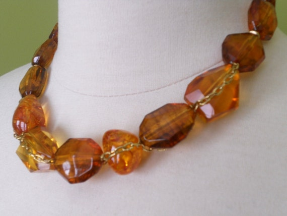 SHEENA amber statement necklace FINAL SALE