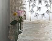 illustrated wedding cake topper