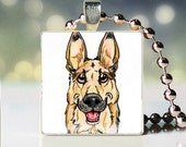 German Shepherd Jewelry-German Shepherd Art-German Shepherd Pendant-German Shepherd Gift-German Shepherd Necklace-German Shepherd Scrabble