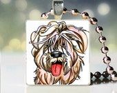 Scrabble tile pendant charm of Weaton Terrier