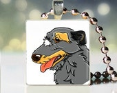 Scrabble tile pendant charm of Irish Wolfhound