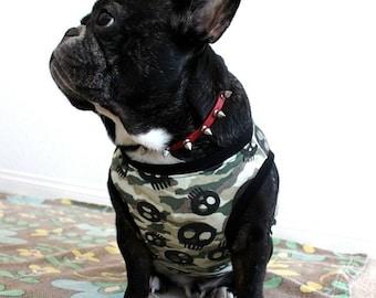 Skull x camouflage shirt