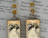 Masked PEACOCK Beauty beaded earrings