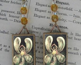 BUTTERFLY Fairy Lady beaded earrings