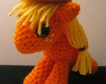 Applejack - My Little Pony Friendship is Magic Amigurumi Crocheted MLP Plush Doll