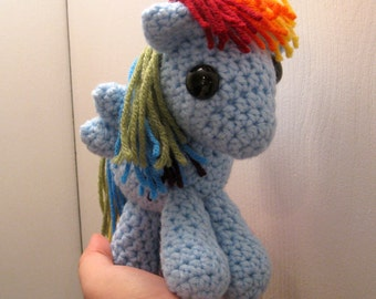 Rainbow Dash - My Little Pony Friendship is Magic Amigurumi Crocheted MLP Plush Doll