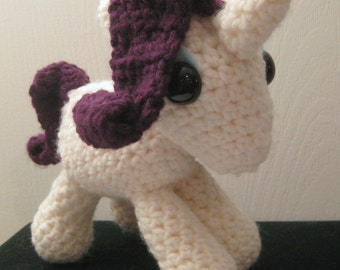 Rarity - My Little Pony Friendship is Magic Amigurumi Crocheted MLP Plush Doll