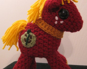 Big Macintosh with Cutie Mark - My Little Pony Friendship is Magic Amigurumi Crocheted MLP Plush Doll