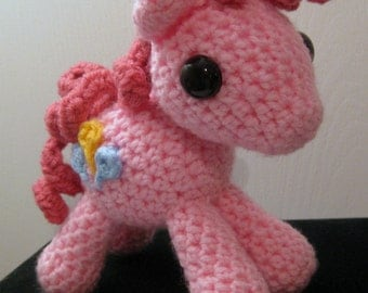 Pinkie Pie with Cutie Mark - My Little Pony Friendship is Magic Amigurumi Crocheted MLP Plush Doll