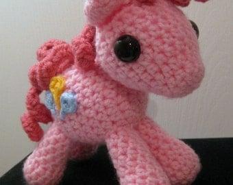 Pinkie Pie with Cutie Mark - My Little Pony Friendship is Magic Amigurumi Crocheted MLP Plush Doll