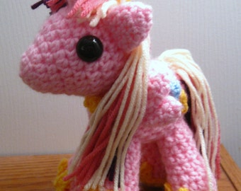 Princess Cadance - Handmade Custom MLP Plushie Amigurumi Crocheted MLP Plush Doll