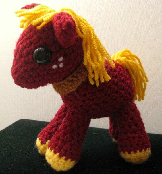 Big Macintosh - My Little Pony Friendship is Magic Amigurumi Crocheted MLP Plush Doll