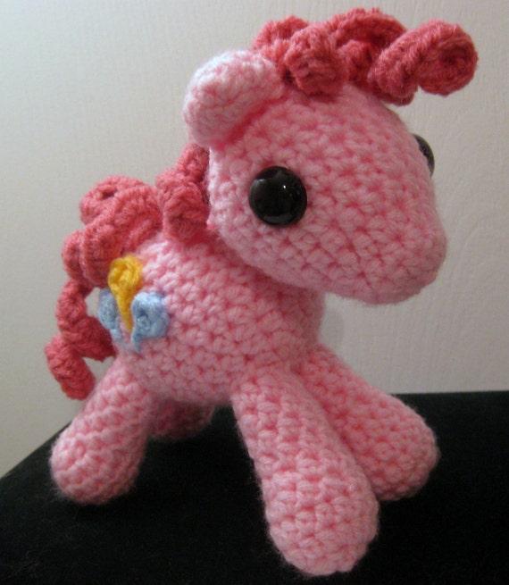 Crochet Dolls Hat Pattern : Items similar to Pinkie Pie with Cutie Mark - My Little ...