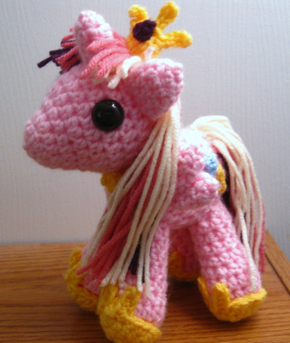 Princess Cadance - Handmade Custom MLP Plushie Amigurumi Crocheted MLP Plush Doll