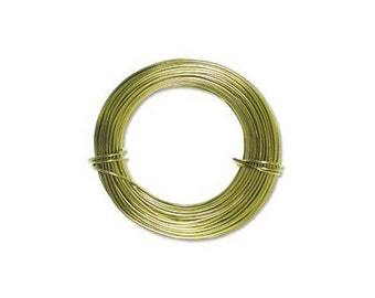 Anodized Aluminum Wire 18 Gauge Apple Green 41445 , Jewelry Wire, Craft Wire, Round Wire, Aluminium Wire, Soft Temper Wire, Anodized Wire