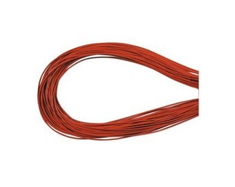 1.5mm Orange Greek Leather Round Cord 41574 (5 meters), Jewelry Cording, Necklace Cord, Bracelet Cord, 1.5mm Cording, 1.5mm Leather Cording