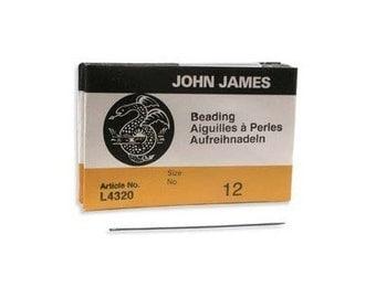 John James English Beading Needles Size 12 41433 Bulk Pack Needles, English Needles, Sewing Needles, Craft Needles, L4320 Needles