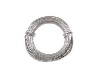Anodized Aluminum Wire 18 Gauge Silver 41286 , Jewelry Wire, Craft Wire, Round Wire, Aluminium Wire, Soft Temper Wire, Anodized Wire