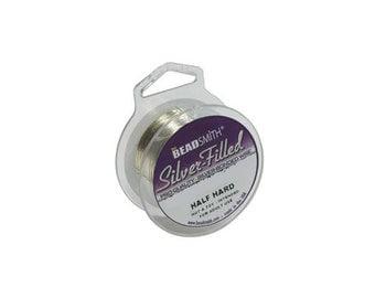 Silver Filled Wire 20 gauge Round .5oz 9ft  41817 Half Hard Wire, Beadsmith Wire, Jewelry Wire, Craft Wire, 20 Gauge SIlver Wire, Round Wire