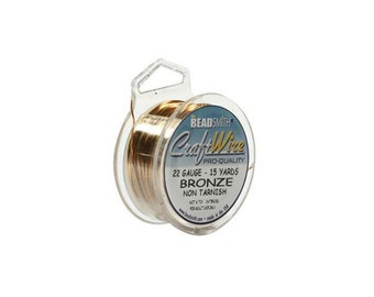 Bronze Color Wire Beadsmith 22 gauge 15yd Spool 41824  , Beadsmith Wire, Round Jewelry Wire, Craft Wire, Jewelry Supplies