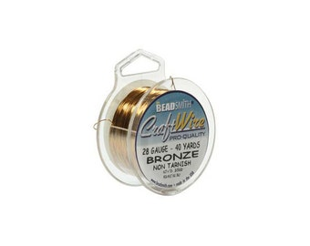 Bronze Color Wire Beadsmith 28 gauge 40yd Spool 41827  , Beadsmith Wire, Round Jewelry Wire, Craft Wire, Jewelry Supplies