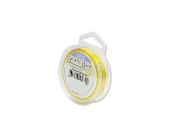 Artistic Wire 18 gauge Silver Plated Lemon Meringue 41884 Yellow Round Wire, Jewelry Wire, Craft Wire, Silver Plated Wire, Wire Wrapping
