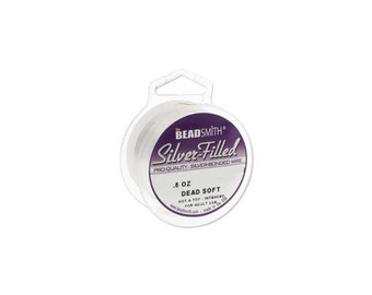 Silver Filled Wire 24 gauge Round .5oz 25ft  41899 Dead Soft Temper Wire, Beadsmith Wire, Round Jewelry Wire, Craft Wire, Jewelry Supplies